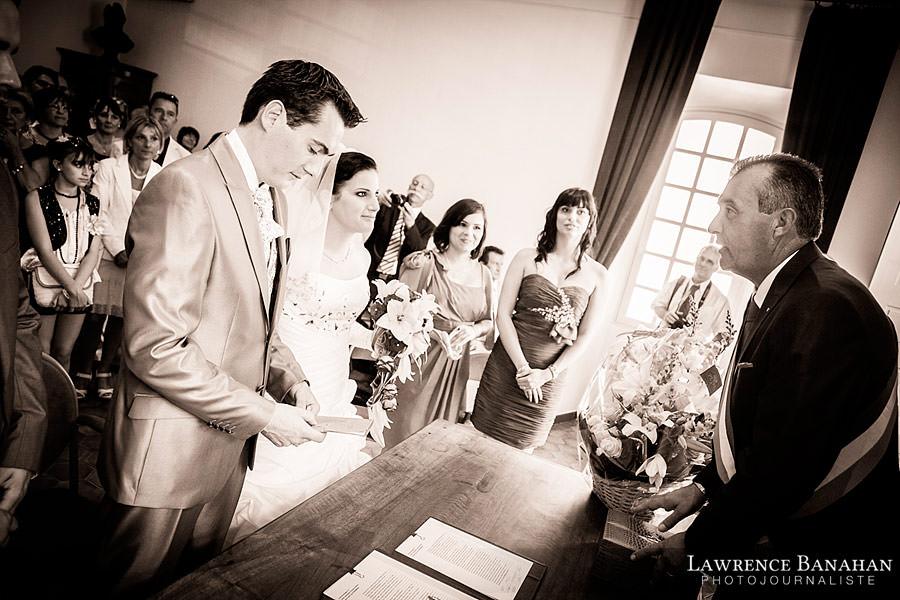 Reportage mariage à la Mairie, Mariage de Cyndi et Florent